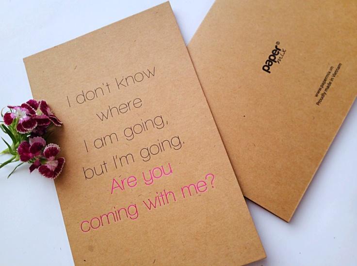 Những tấm thiệp ý nghĩa đơn giản chỉ thể hiện những lời nhắn ngọt ngào