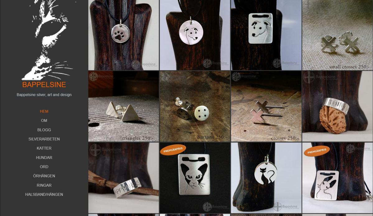 """Premiär för Bappelsine silver, art and design """"butiken"""""""