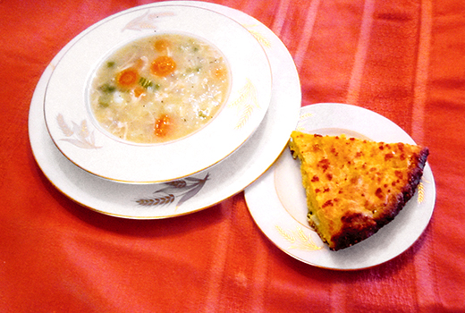 Sunday Dinner - Yum Yum Chicken Soup and Cornbread