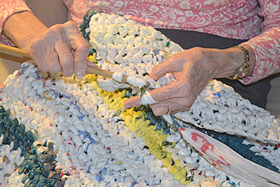 Barnwell women crochet unusual sleeping mats for homeless
