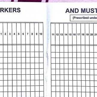 Leave book register of Leave with Wages Form 20 Rule 105