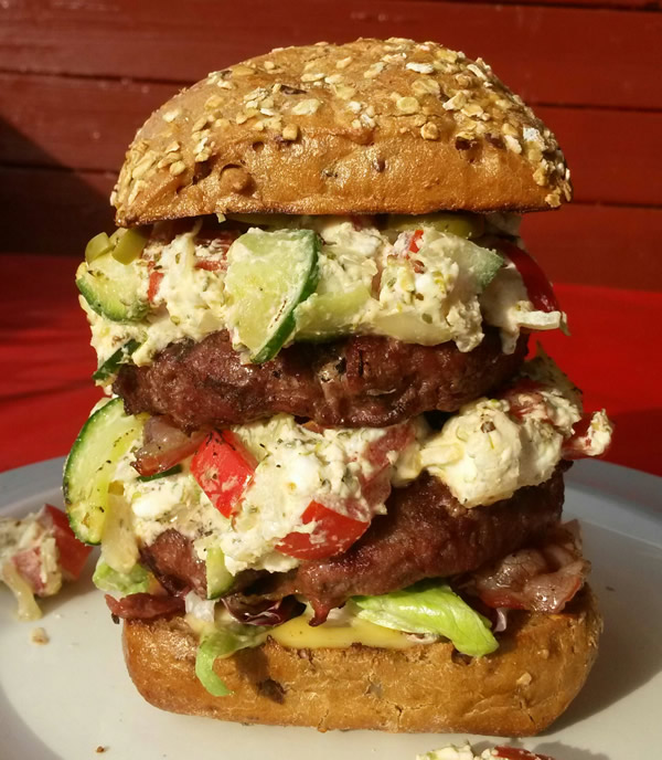Greek Style Monster Burger