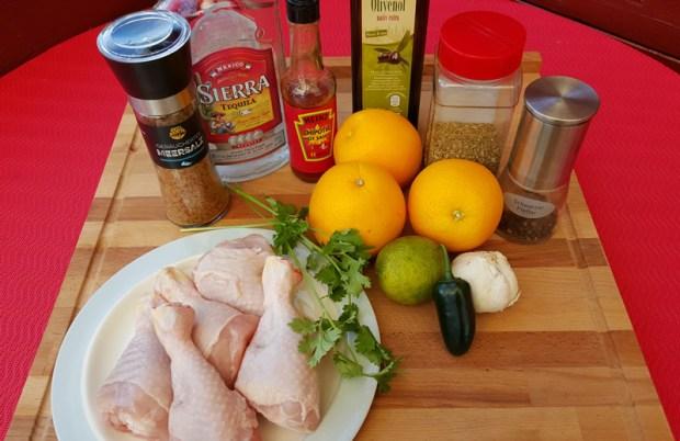 Zutaten für die Chicken Lollies