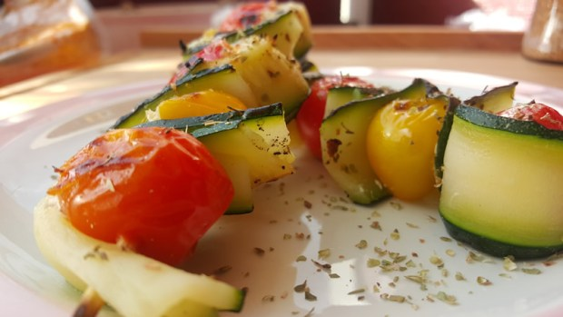 Zucchini Tomaten Spiess