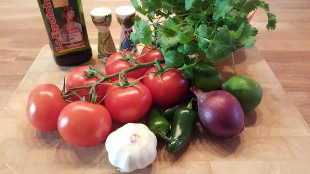 Zutatenliste für die Tomato Salsa