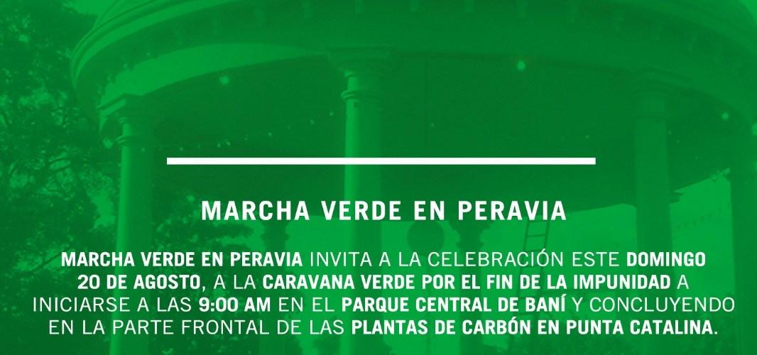 Marcha verde el domingo frente a Punta Catalina