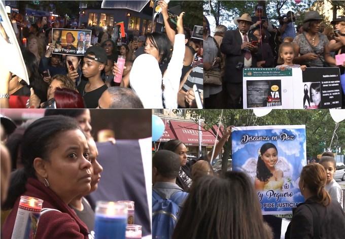 Dominicanos reclaman justicia por Emily en vigilia