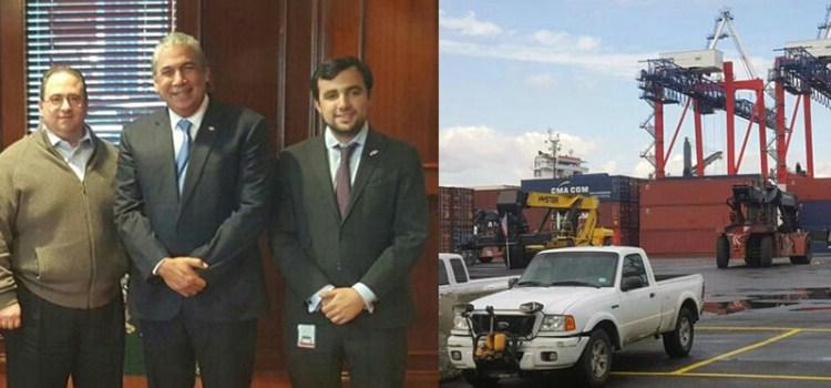 Cónsul Castillo visita puerto Brooklyn