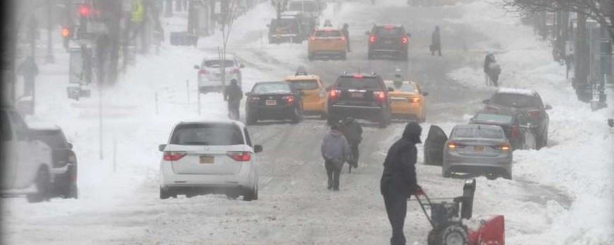 Otra nevada azota área de Nueva York