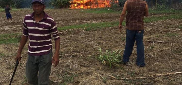 Incendio afecta ranchos de tabaco y casa
