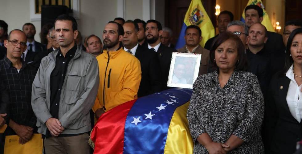 Indigna muerte concejal opositor venezolano