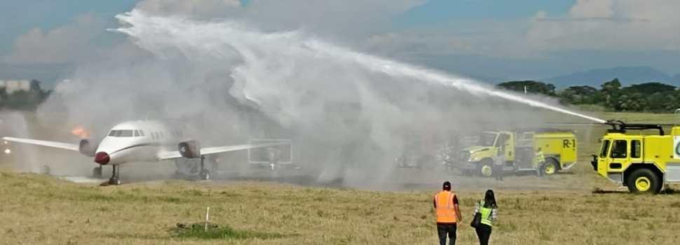 Simulacro emergencia en Aeropuerto del Cibao