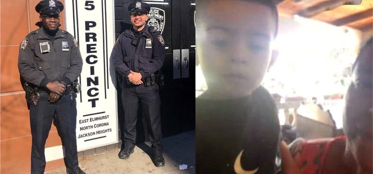 Dos policías salvan vida a niño dominicano