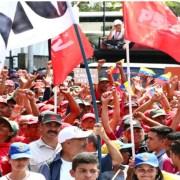 Los chavistas se manifiestan en concentración
