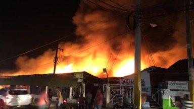 Incendio en Laguna Salada