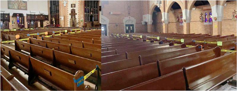 Iglesias reabren con limitaciones de asientos