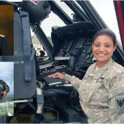 Marisol primera latina guiar helicóptero guerra