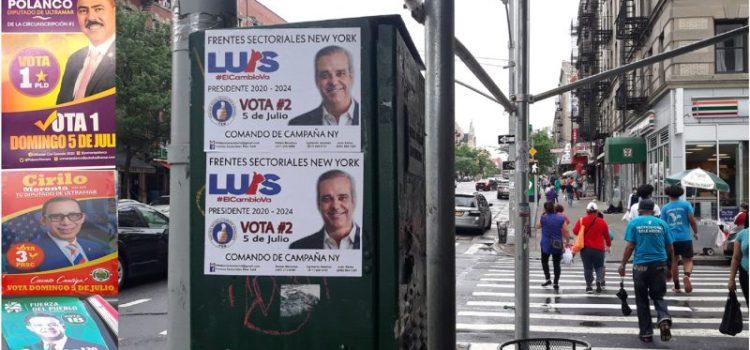Luce tímida campaña en NY para elecciones