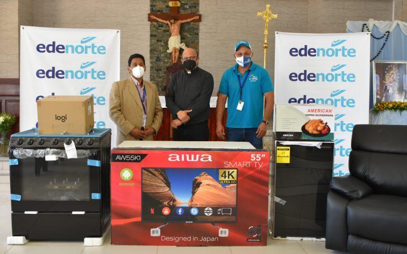 Edenorte dona electrodomésticos a parroquias