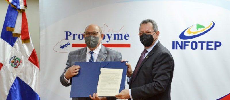 Infotep y Promipyme firman un acuerdo
