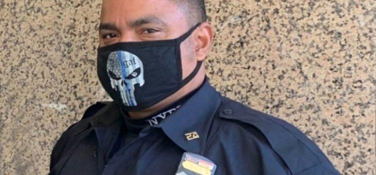Desaprueban uso mascarilla por oficial policía