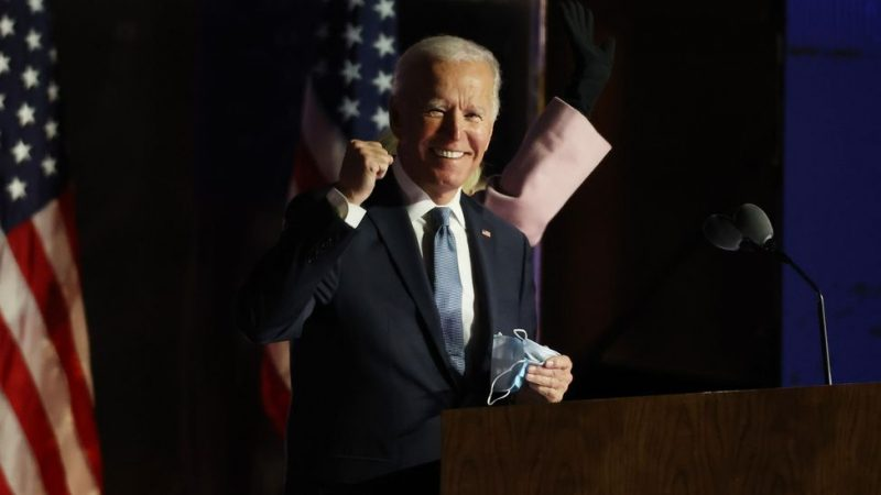 Jose Biden agradece su escogencia como presidente