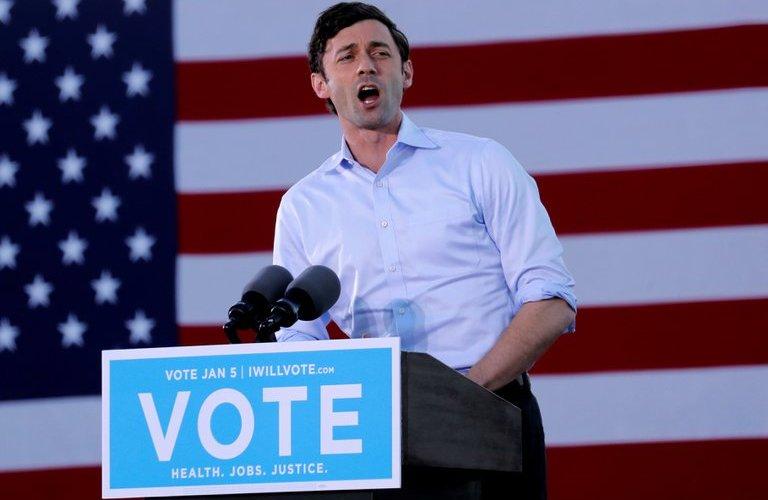 Los candidatos demócratas triunfan en Georgia