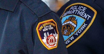 Policías y bomberos NY en conflicto