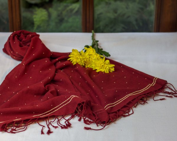 Handloom Stoles hand embroidered zardozi