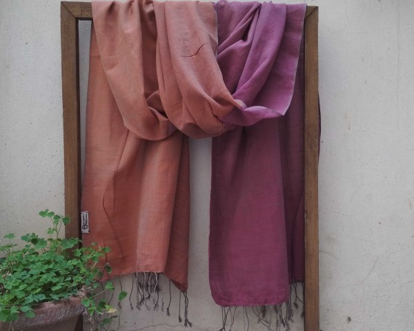 Handloom cotton scarf handmade in India