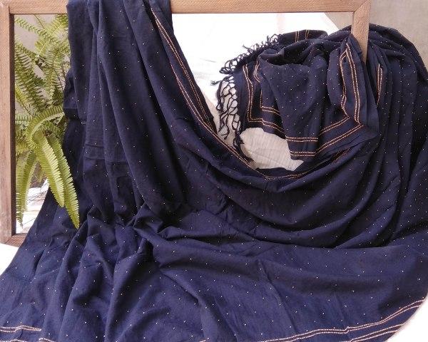 Handloom cotton saree, sari handmade handwoven in India