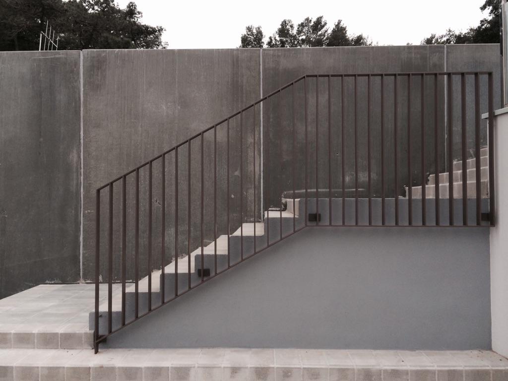 Barandilla exterior de hierro Vertical - Barandillas Giner