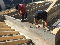 Impermeabilización y preparación del apoyo de los muros exteriores. ©Arquitectura Biopasiva Baransu