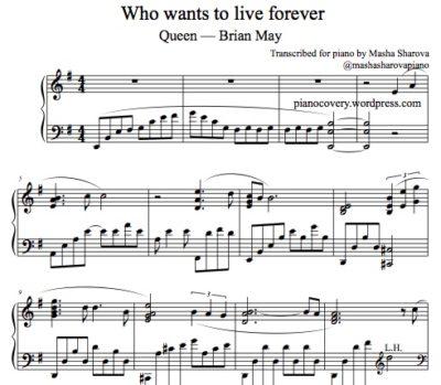 La partition de piano solo Forever de Queen