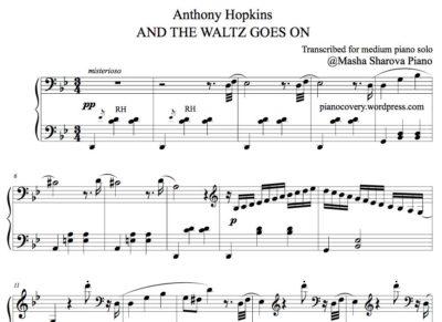 Partition pdf de piano facile Valse Waltz de Anthony Hopkins