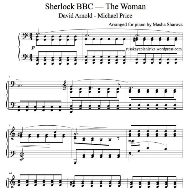 Partition piano cover the Woman Sherlock BBC