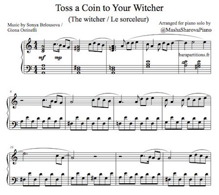 Easy piano solo sheet the witcher pdf