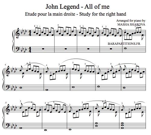 All of me john legend amazing piano music sheet pdf