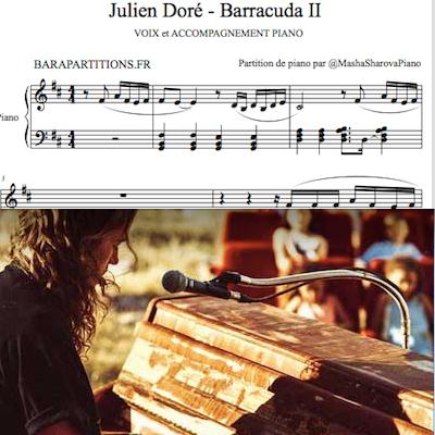 Barracuda de Julien Doré pour chanter avec piano