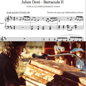 Barracuda de Julien Doré pour chanter avec piano