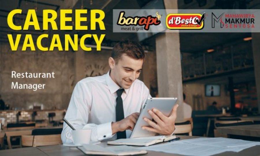 Vacancy Restaurant Manager