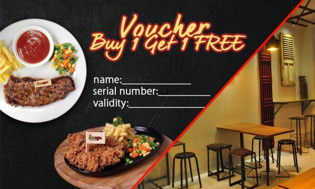 Makan Steak Gratis Lebih Mudah Dengan E-Voucher Buy One Get One