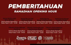Ramadhan Opening Hour