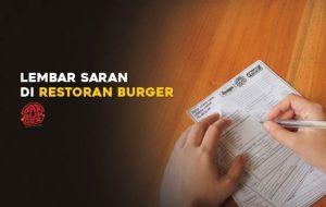 Lembar Saran di Restoran Burger