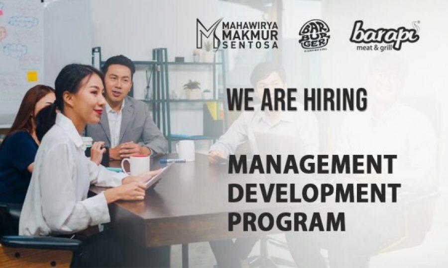 Career Opportunity: MANAGEMENT DEVELOPMENT PROGRAM – MDP