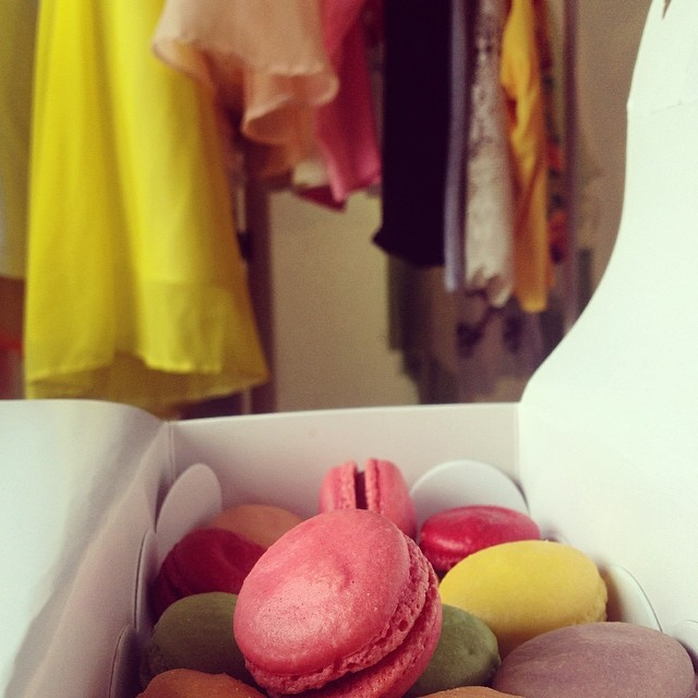 matching macarons clothes