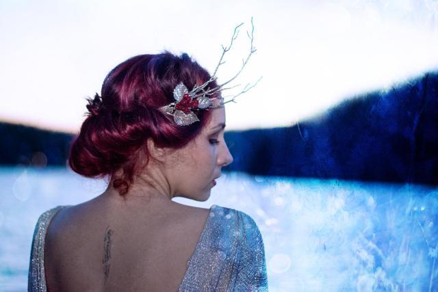 frozen silver fashion dress