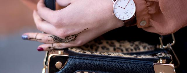 daniel wellington leopard bag