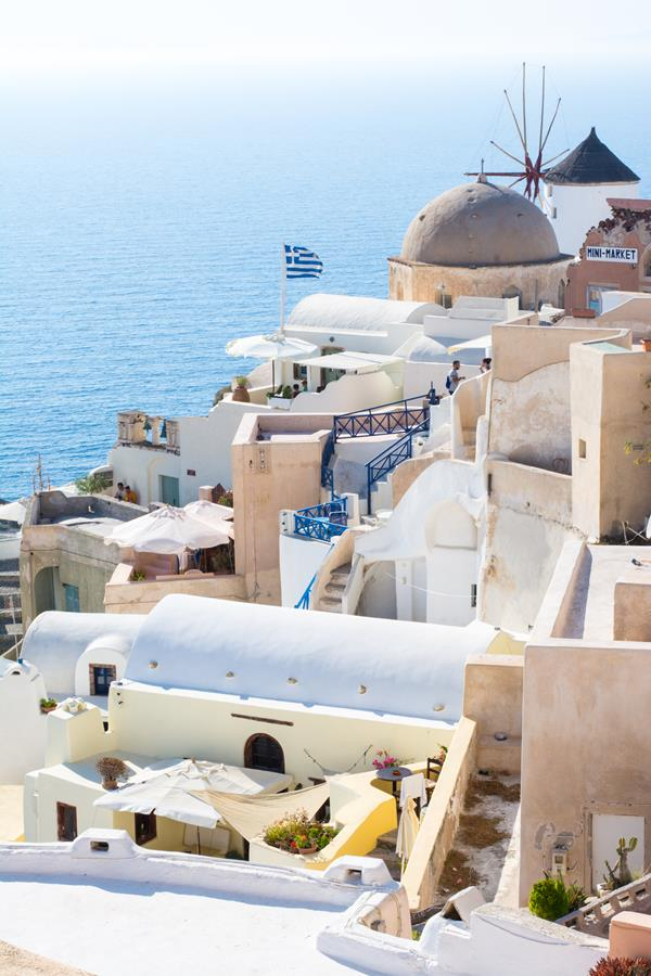 santorini holiday view