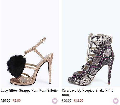 cheap boohoo shoes